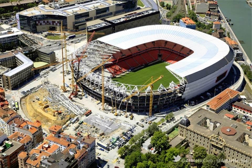 Cubierta del estadio San Mamés Barria